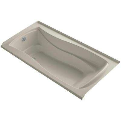 Mariposa 6 ft. Left Drain Soaking Tub in Sandbar with Bask Heated Surface