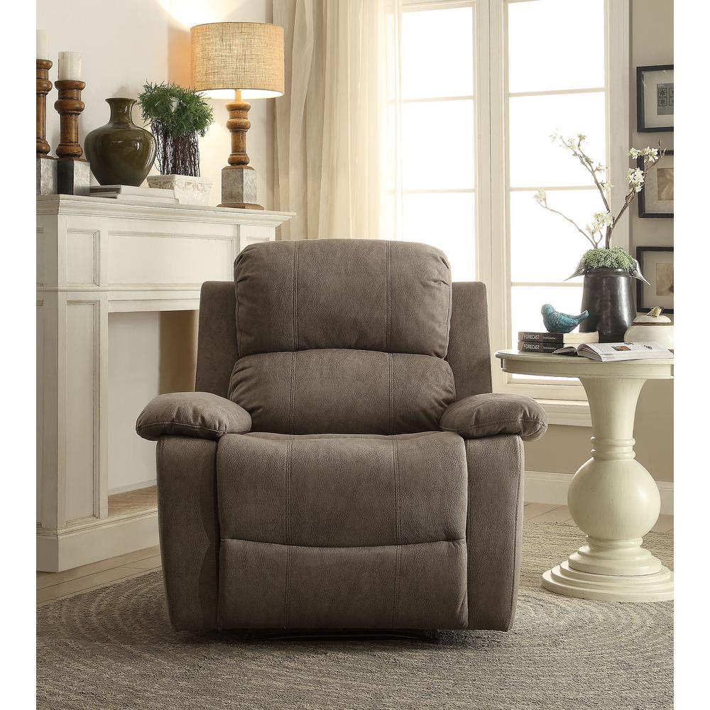& Acme Furniture Gray Bina Memory Foam Recliner-59528 - The Home Depot islam-shia.org