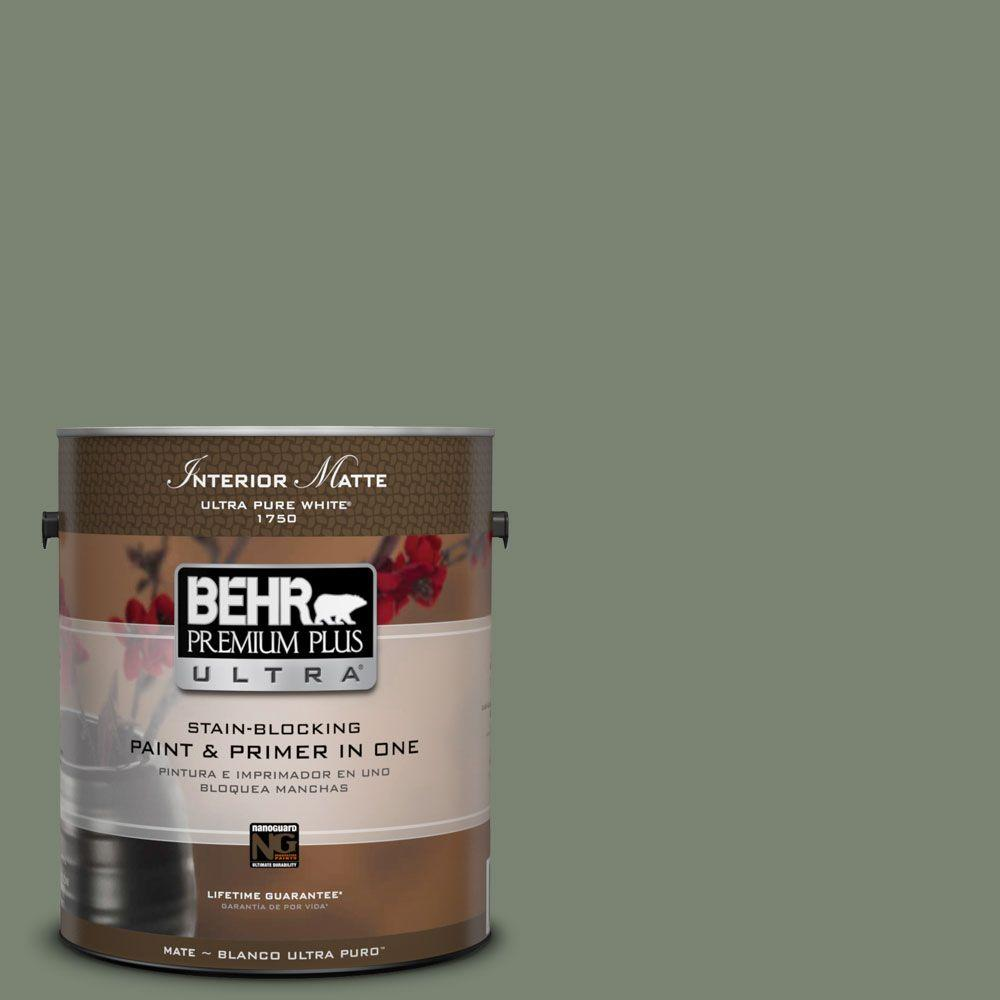 1 gal. #ICC-77 Sage Green Flat/Matte Interior Paint