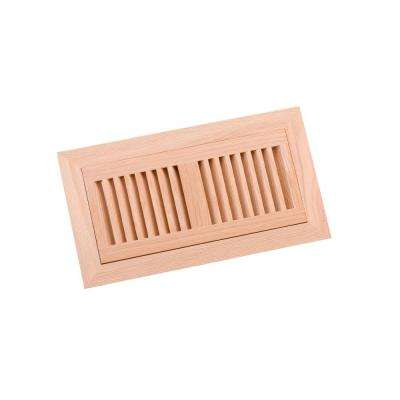 4 in. x 10 in. Wood White Oak Unfinished Flush Mount Vent Register