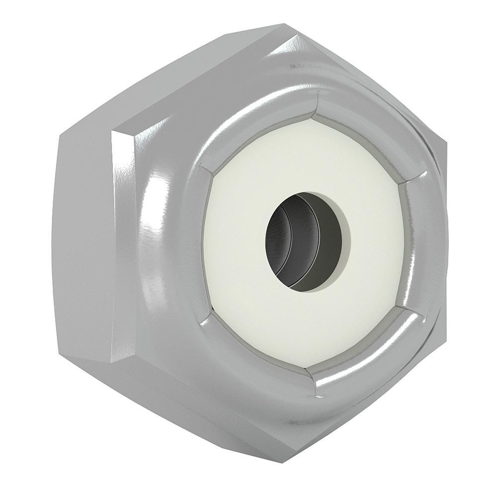 Nylon Insert Lock Nut Zinc Grade A Hex Nuts Qty-1000 #8-32 UNC