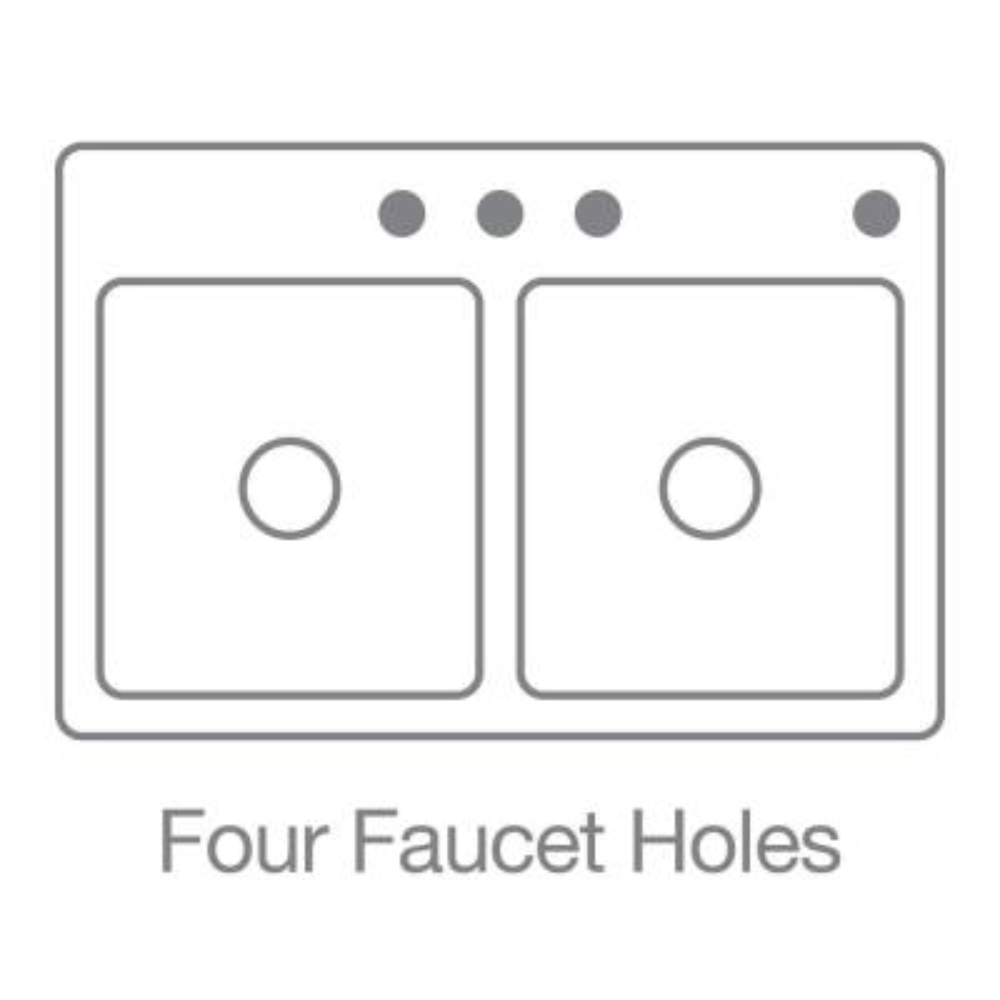 KOHLER Maxeen Drop-In Granite Composite 25 in. 4-Hole Single Bowl Kitchen Sink in Biscuit
