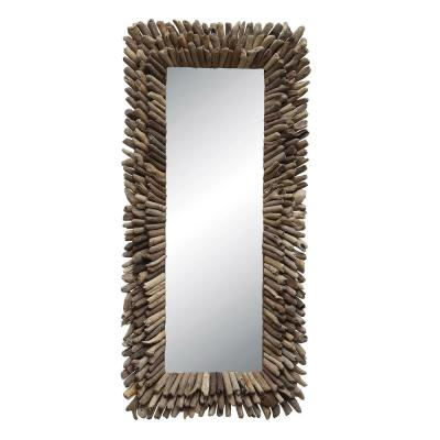 Large Rectangle Brown Mirror (52.25 in. H x 24.75 in. W)