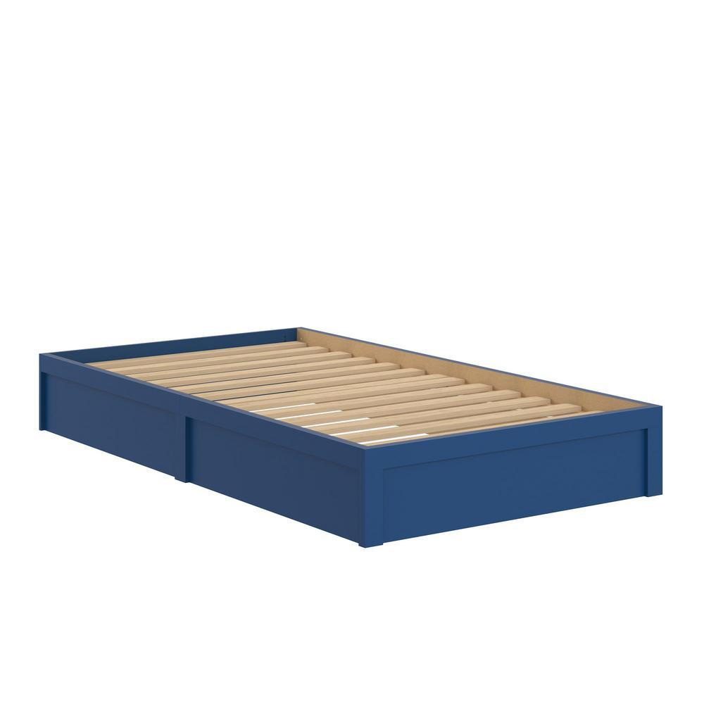 Ameriwood Arrowgate Platform Blue Twin Bed Frame-HD72397 - The Home ...