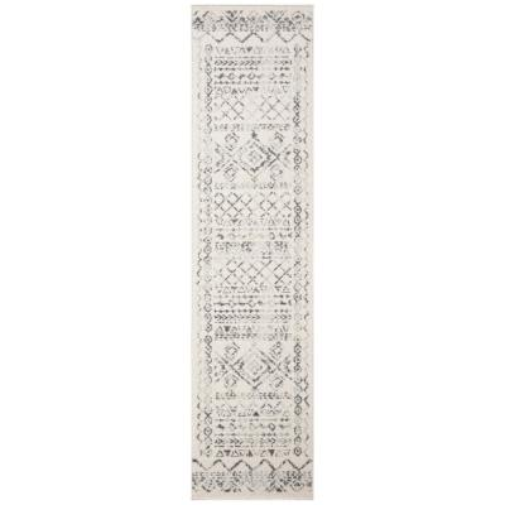 Tulum Ivory/Gray 2 ft. x 11 ft. Runner Rug