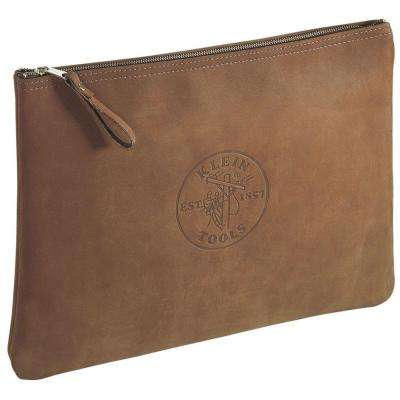 17 in. Contractor's Leather Portfolio
