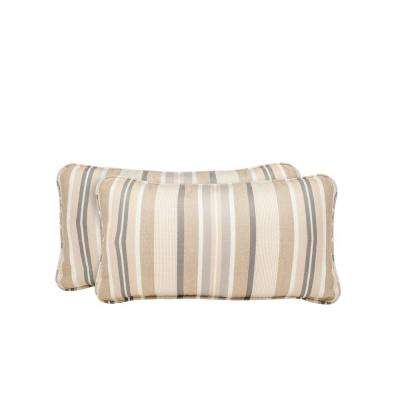 Vineyard Terrace Lane Outdoor Lumbar Pillow (2-Pack)