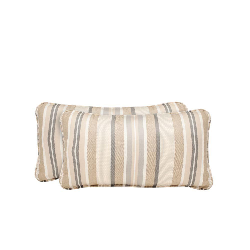 Brown Jordan Vineyard Terrace Lane Outdoor Lumbar Pillow (2-Pack) by Brown Jordan
