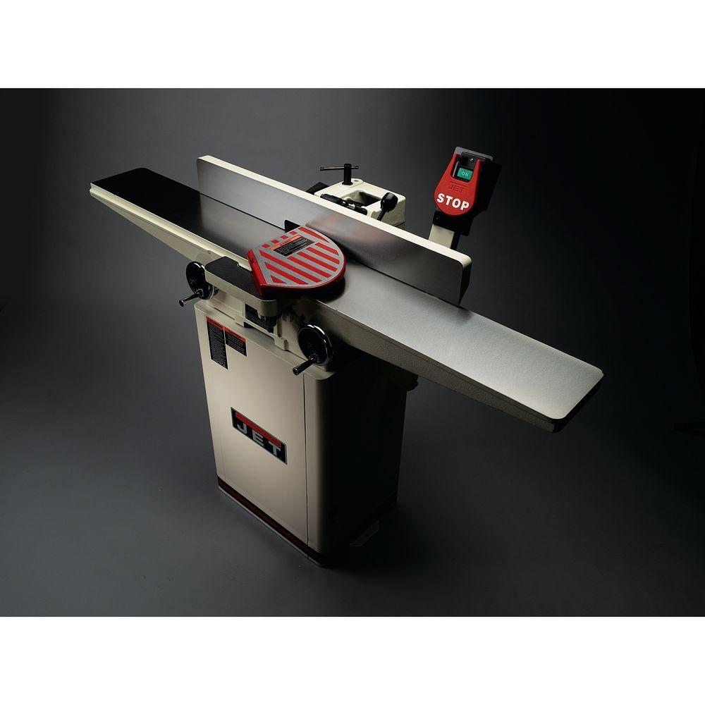 Jet 1 Hp 6 In Woodworking Long Bed Helical Head Jointer 115 230 Volt Jj 6hhdx