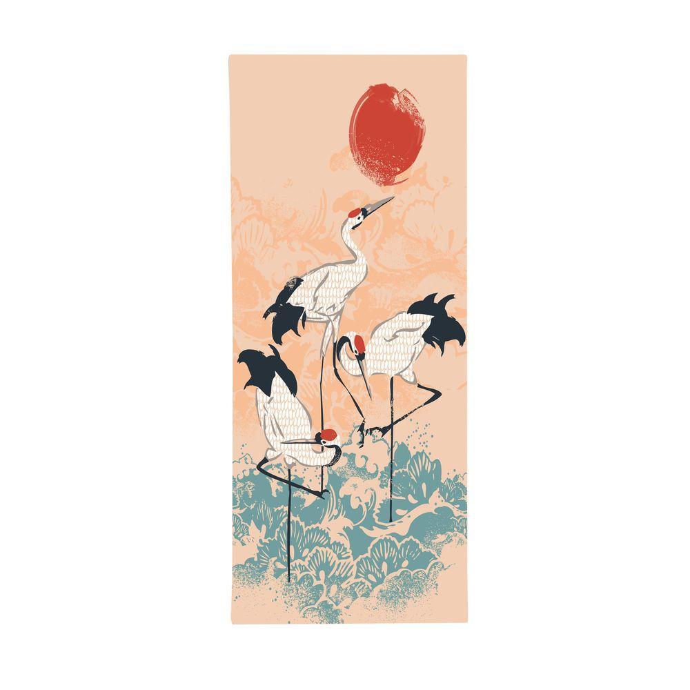 null 24 in. x 47 in. Cranes Canvas Art