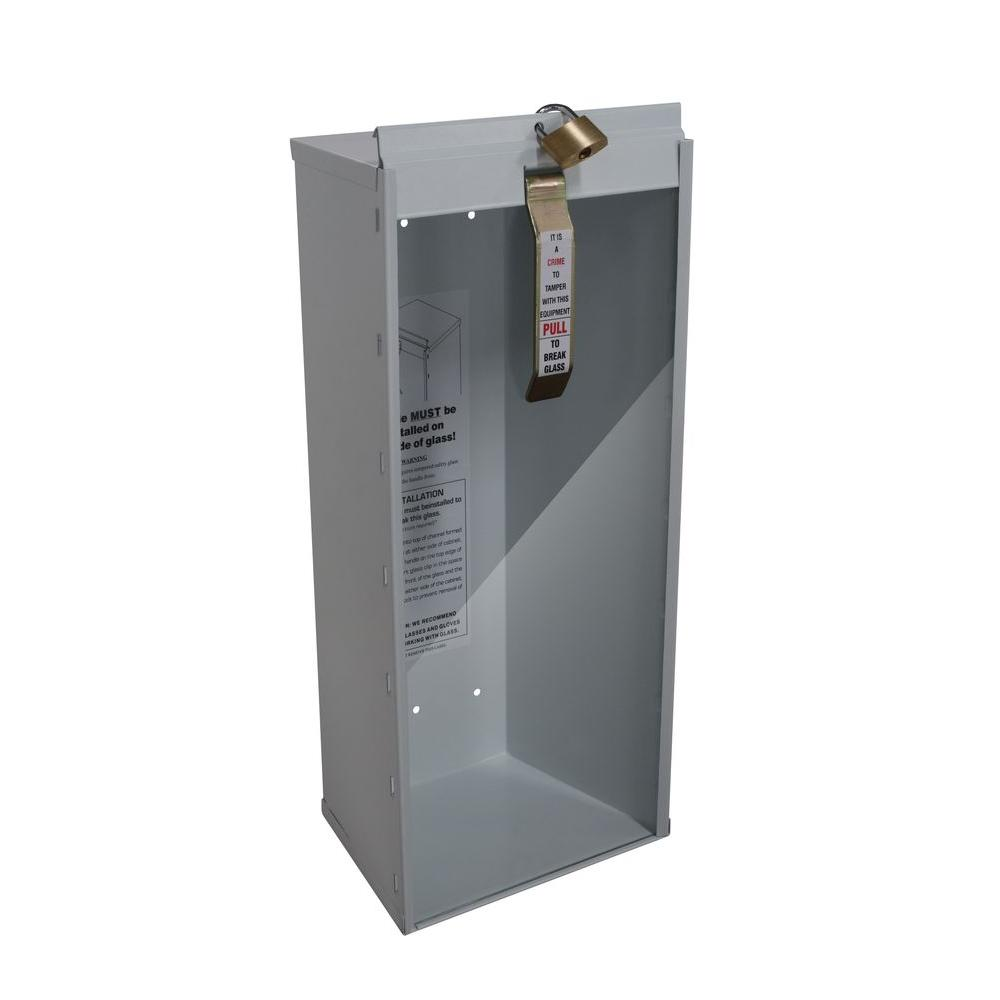 20.86 in. H x 10.25 in. W x 6.38 in. D 10 lbs. Steel Industrial Grade Fire Extinguisher Cabinet in White