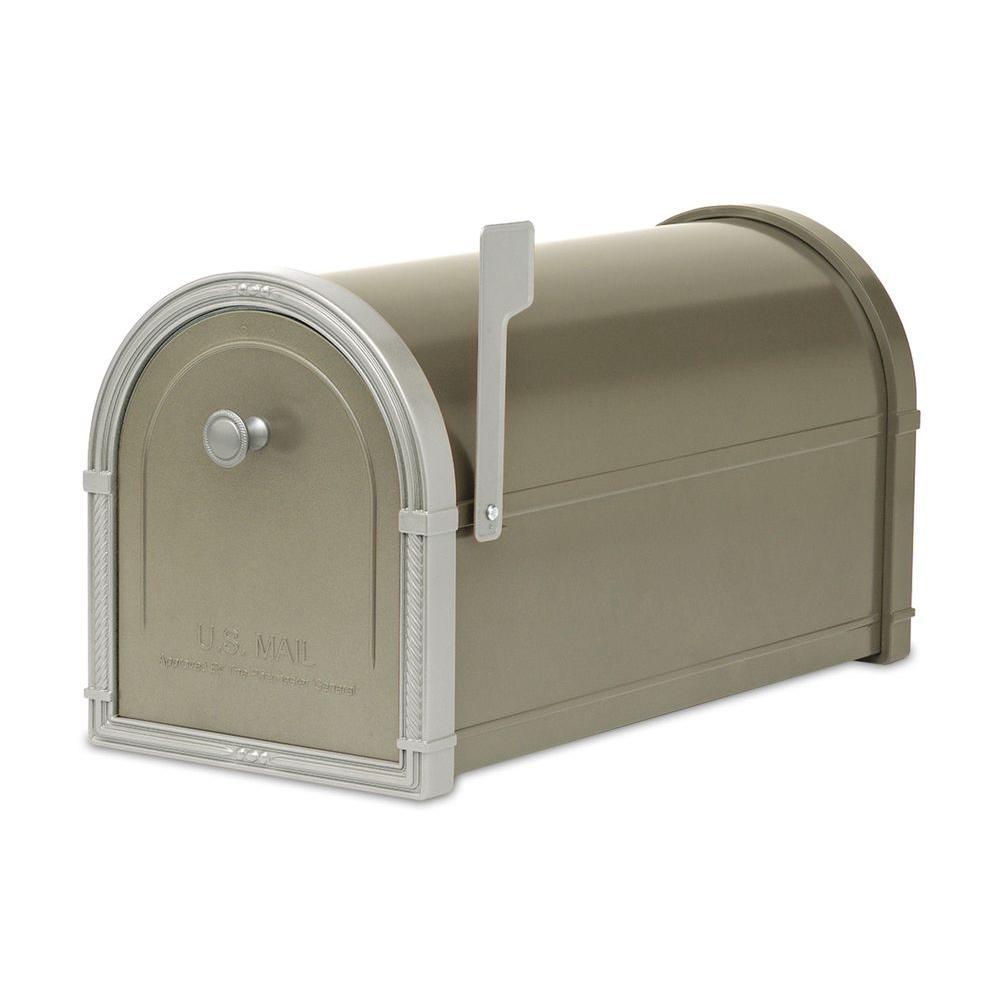 Architectural Mailboxes Bellevue Bronze Post-Mount Mailbox