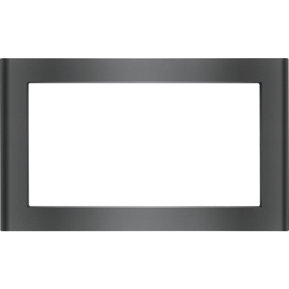 30 in. Microwave Trim Kit in Black Stainless Steel