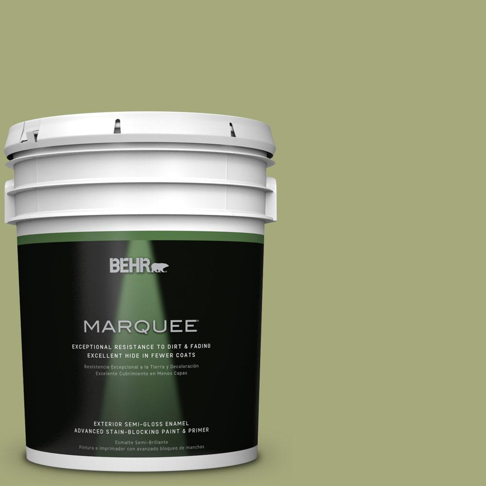 BEHR MARQUEE 5-gal. #M350-5 Mossy Cavern Semi-Gloss Enamel Exterior Paint