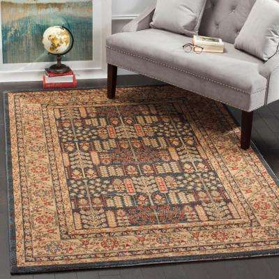 Mahal Navy/Natural 5 ft. 1 in. x 7 ft. 7 in. Area Rug