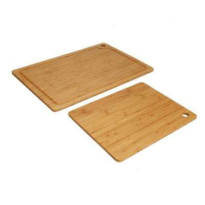 2-Piece Bamboo Cutting Board Set