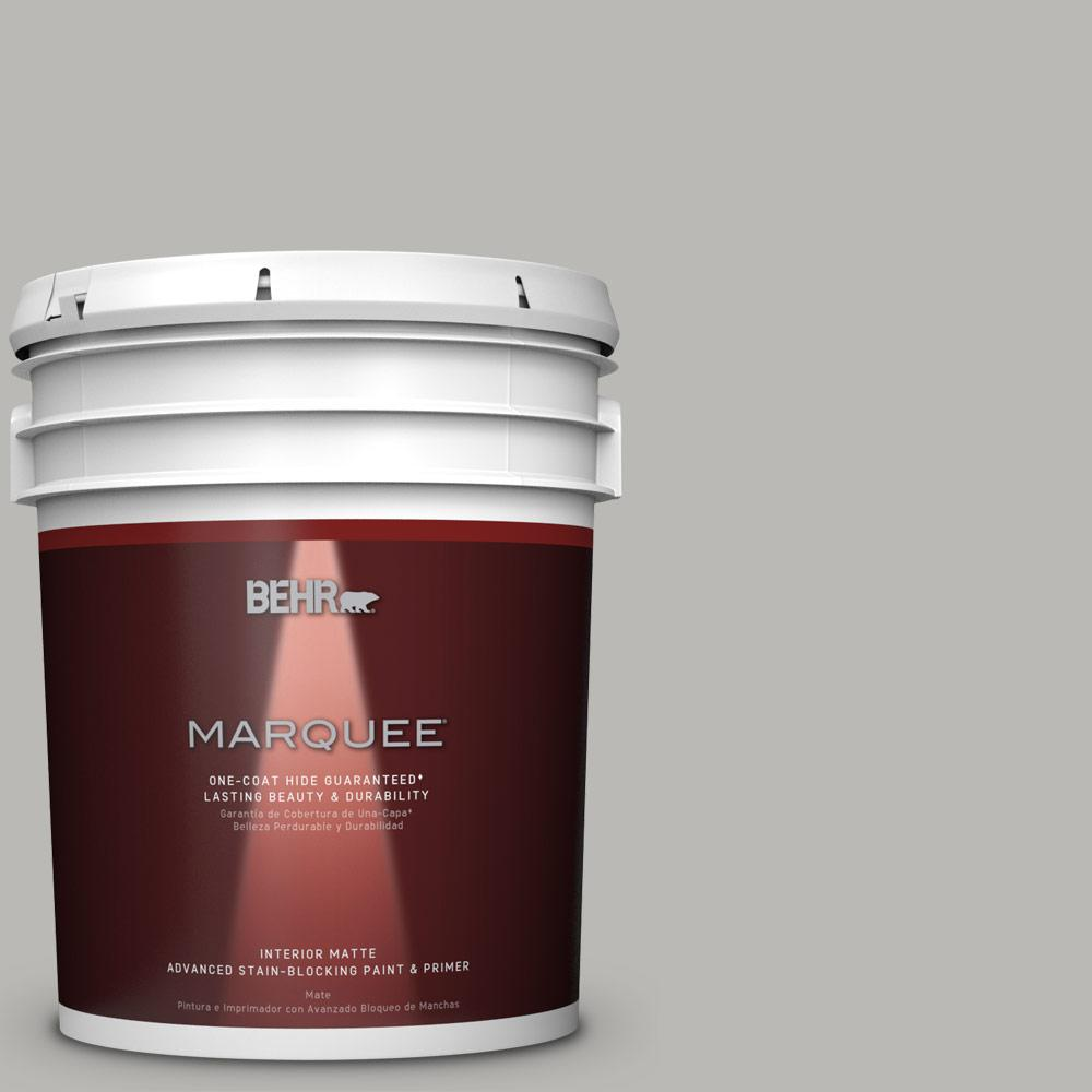 silver paint colorsBEHR MARQUEE 5 gal PPU1811 Classic Silver OneCoat Hide Matte