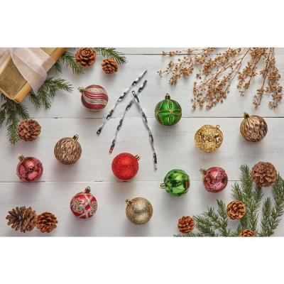60 mm Shatterproof Holly Bell Ornament (101-Pack)