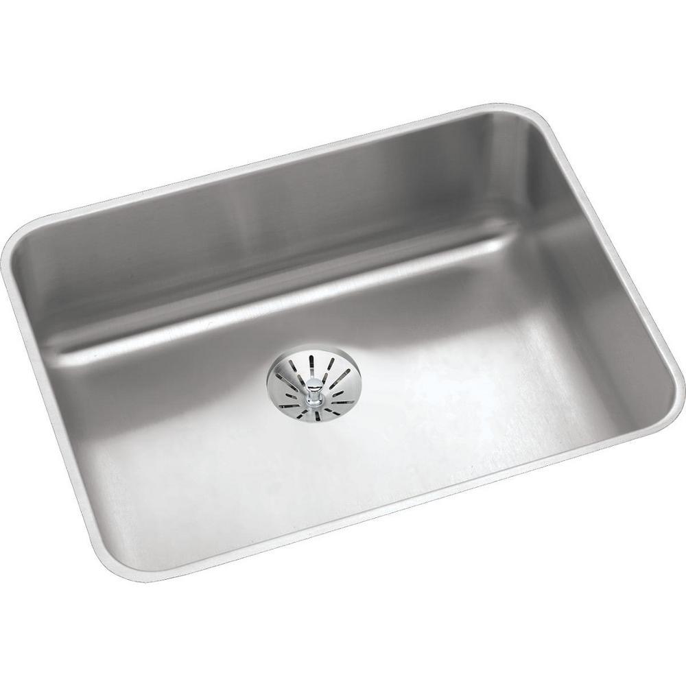 Lustertone Undermount Stainless Steel 24 in. Single Bowl Kitchen Sink