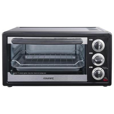 6-Slice Black Convection and Broil Toaster Oven