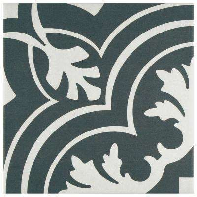 Twenties Classic Encaustic 7-3/4 in. x 7-3/4 in. Ceramic Floor and Wall Tile (11 sq. ft. / case)