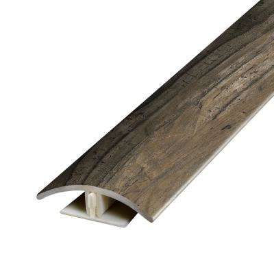 Reclaimed Wood Grey .37 in. Thick x 1.75 in. Wide x 78.7 in. Length Vinyl 2-in-1 Molding
