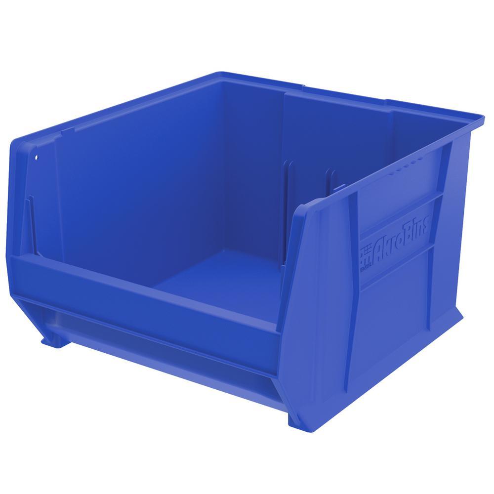 Super-Size AkroBin 18.3 in. 300 lbs. Storage Tote Bin in Blue with 14 Gal. Storage Capacity