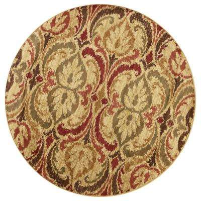 Lifestyles Jeweltone Firenze 8 ft. x. 8 ft. Round Area Rug