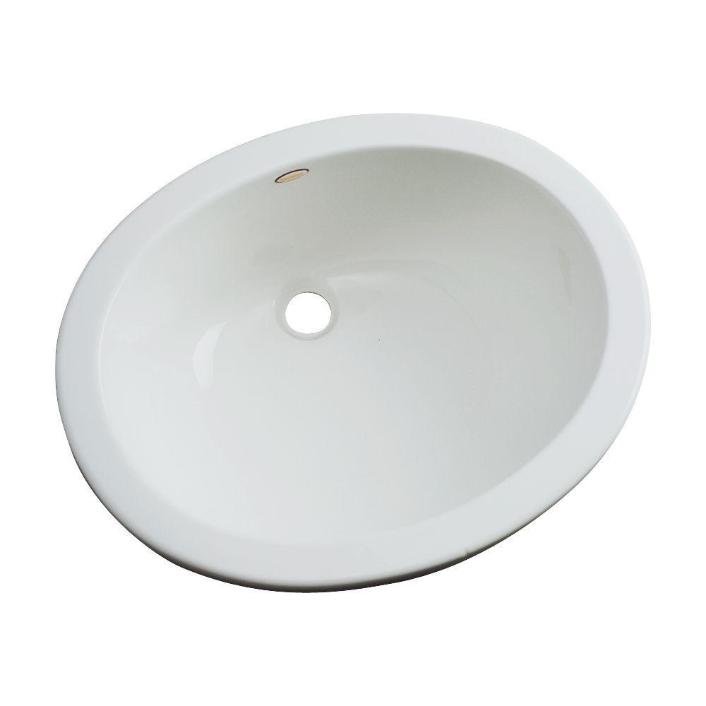 Thermocast Montera Undermount Bathroom Sink in Sterling Silver