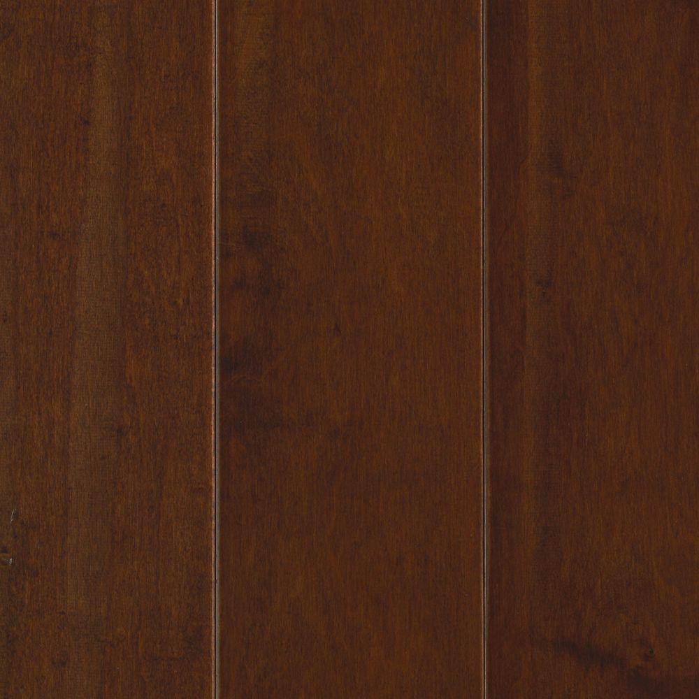 Mohawk Cognac Maple 3/8 in. x 5.25 in. x Random Length Soft Scraped Engineered UNICLIC Hardwood Flooring (22.5 sq. ft. / case)