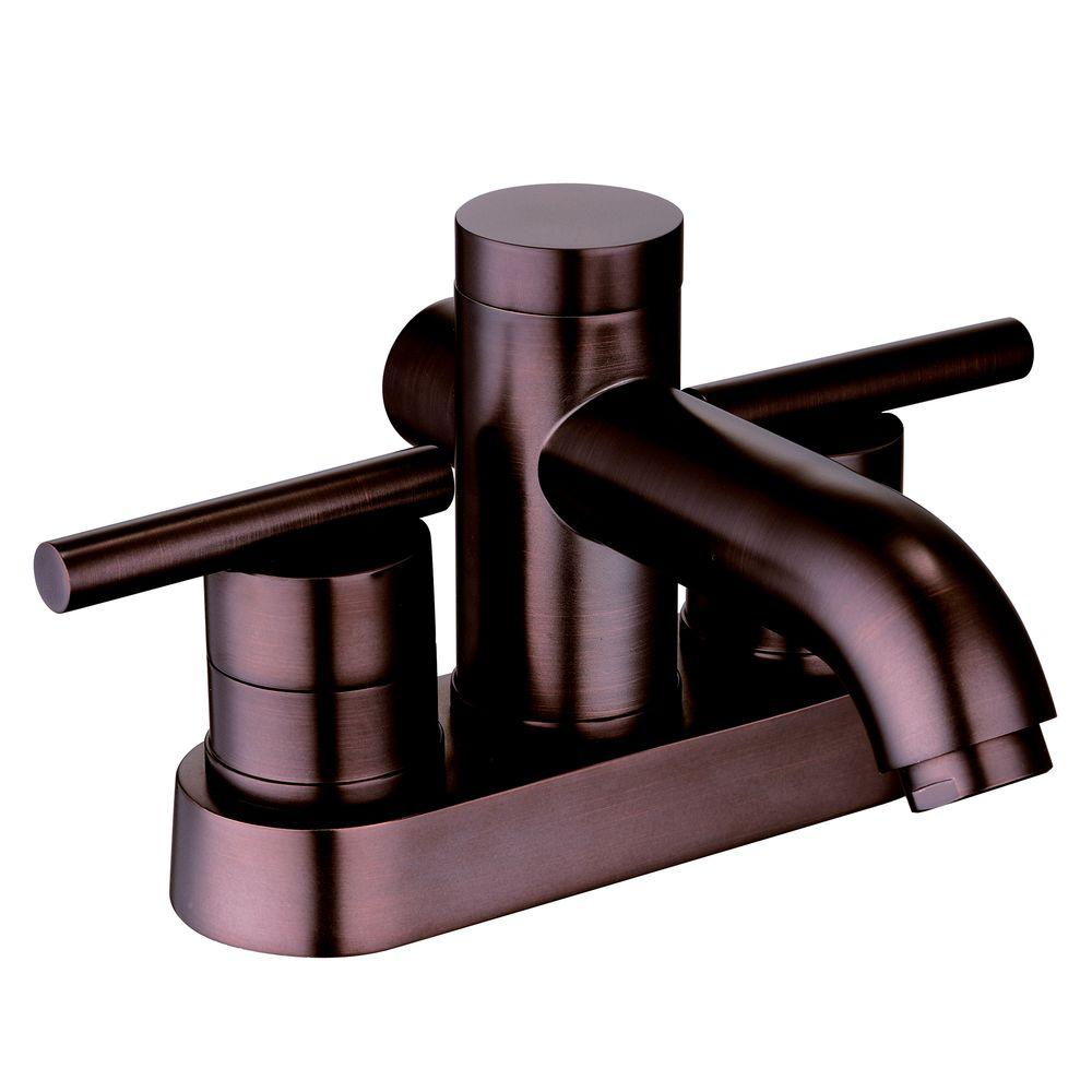 Centerset 2 Handle Deck Mount Bathroom Faucet Oil Rubbed Bronze