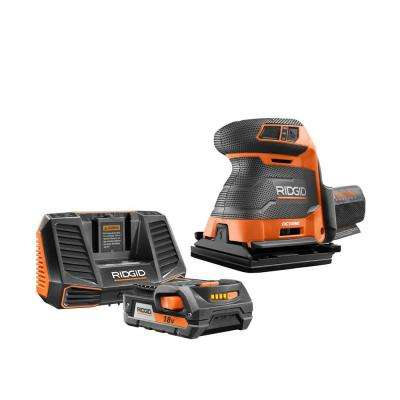 18-Volt OCTANE Cordless Brushless 3-Speed 1/4 Sheet Sander with 18-Volt 2.0 Ah Lithium-Ion Battery and Charger Kit