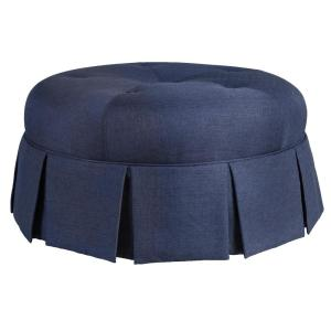 Super Ava Solid Wood Large Ottoman In Blue Denim On Casters Machost Co Dining Chair Design Ideas Machostcouk