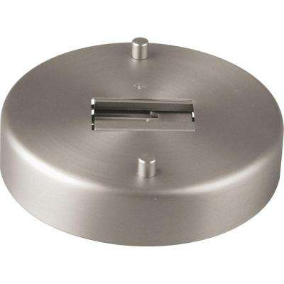 Alpha Trak Brushed Nickel Track Lighting Monopoint Canopy Accessory