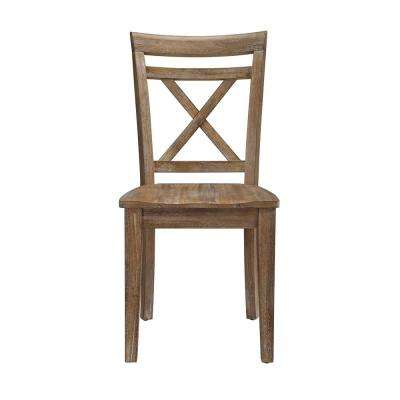Brookline Natural Rustic Wooden Desk Chair