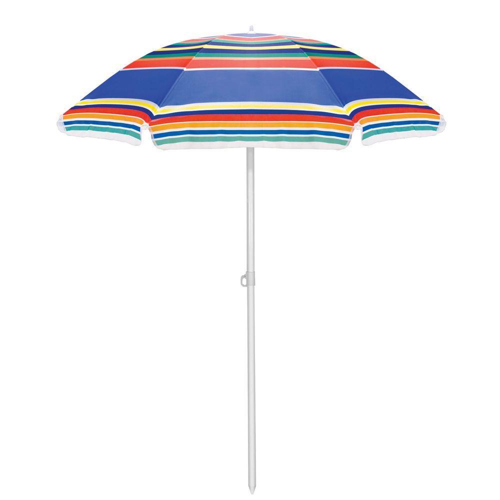 5.5 ft. Beach Patio Umbrella in Multicolor