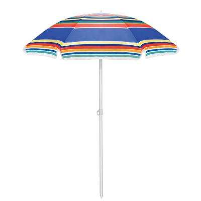 5.5 ft. Beach Patio Umbrella in Multicolor