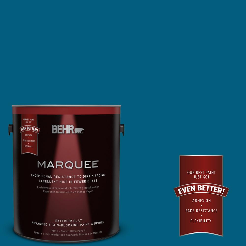1 gal. #MQ5-62 Blue Edge Flat Exterior Paint