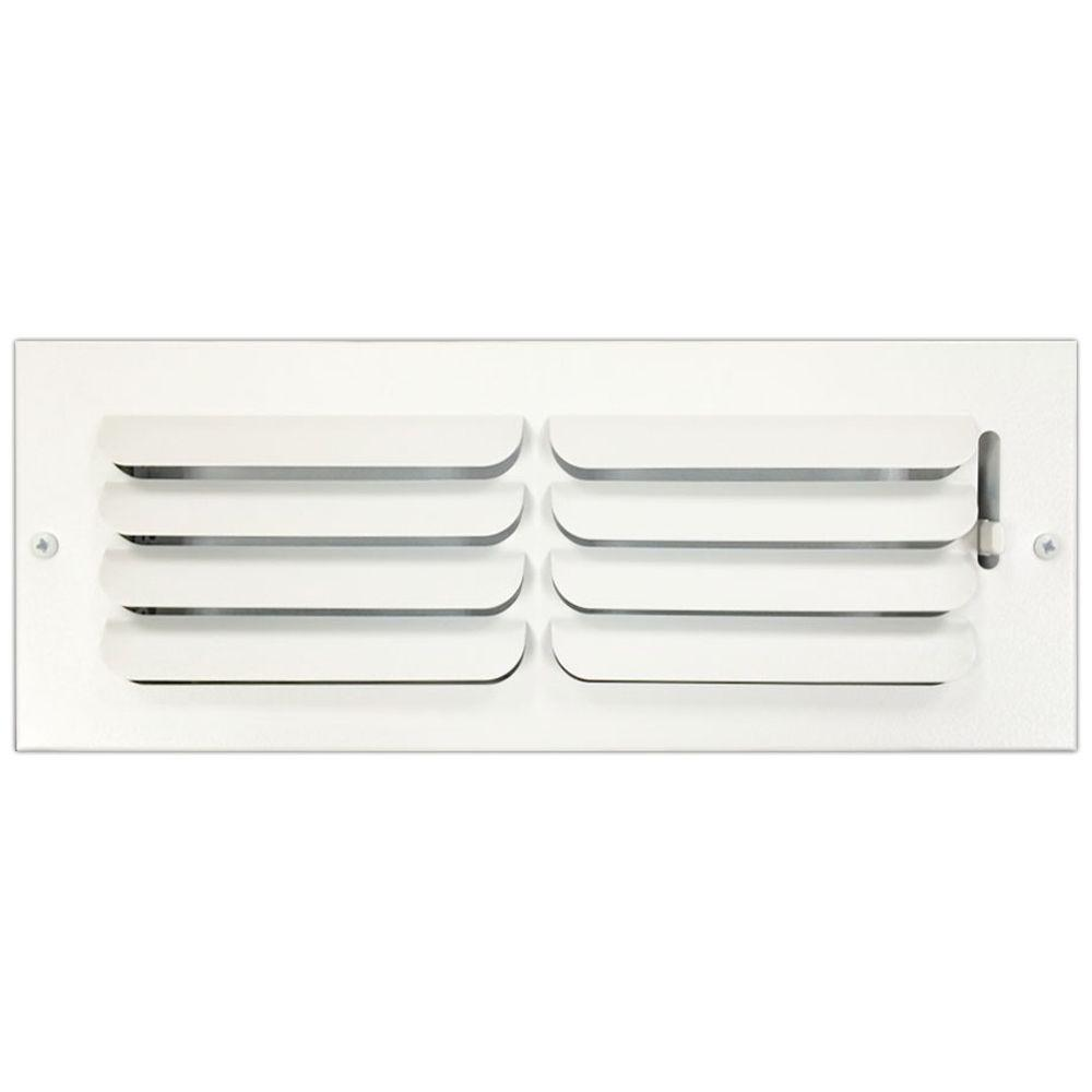 SPEEDI-GRILLE 4 in  x 12 in  Ceiling or Wall Register with Curved Single  Deflection, White