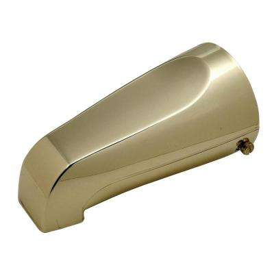Mixet 5-1/8 in. Quikspout Filler Tub Spout in Polished Brass