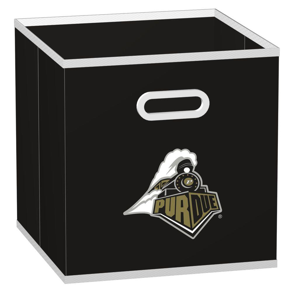 MyOwnersBox College STOREITS Purdue University 10-1/2 in. x 10-1/2 in. x 11 in. Black Fabric Storage Drawer