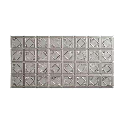 Traditional 4 - 2 ft. x 4 ft. Glue-up Ceiling Tile in Argent Silver