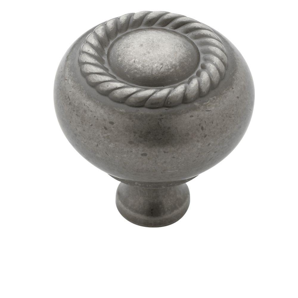 1-1/4 in. Weathered Nickel Cabinet Knob