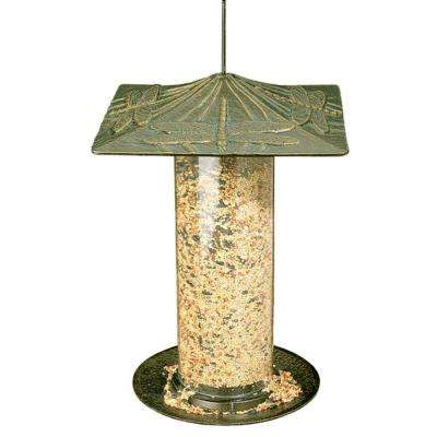 Dragonfly 12 in. French Bronze Tube Bird Feeder