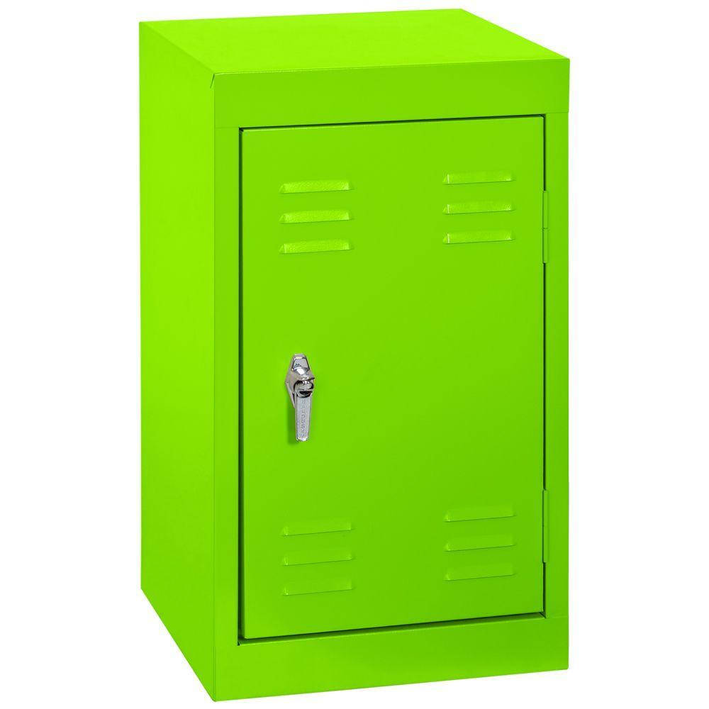 Sandusky 15 in. W x 15 in. D x 24 in. H Single Tier Welded Steel Locker in Electric Green