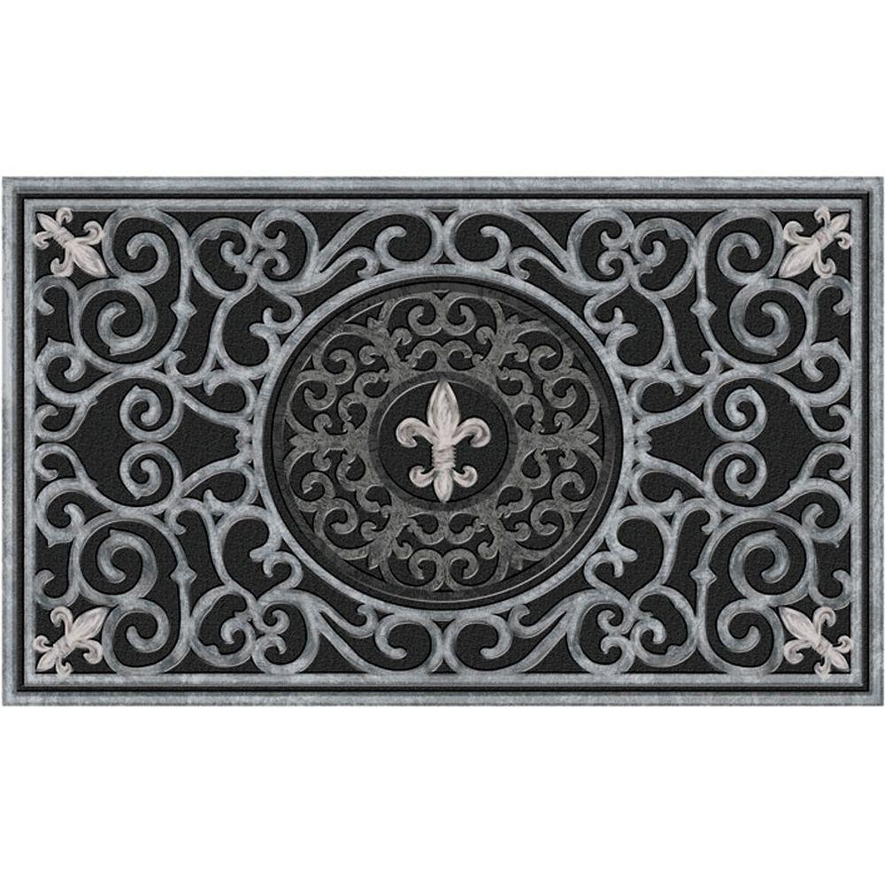 Apache Mills Fleur De Lis 18 In X 30 In Recycled Rubber