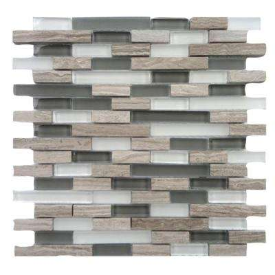 Opera Glass Aria Light 12 in. x 12 in. x 7.93 mm Glass and Marble Mosaic Wall Tile (10 sq. ft. / case)