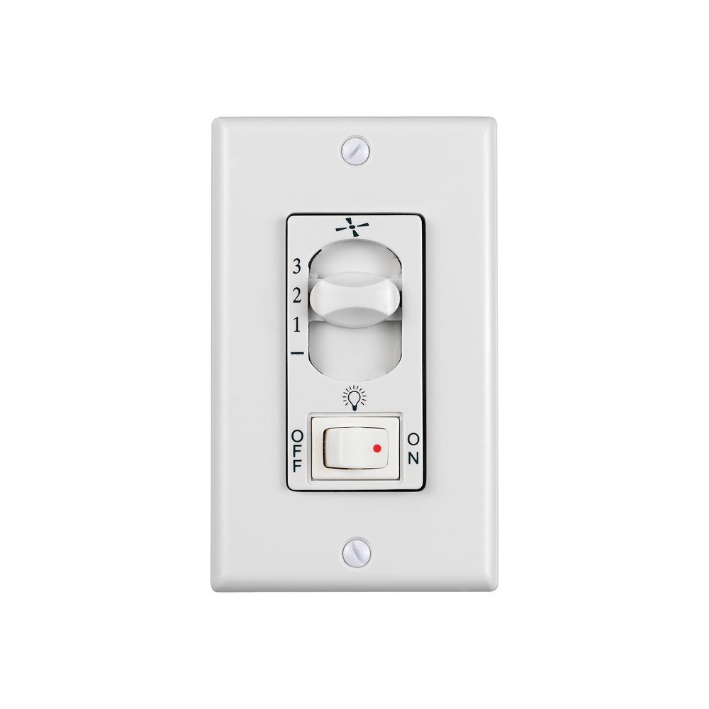 White Wall Fan Switch