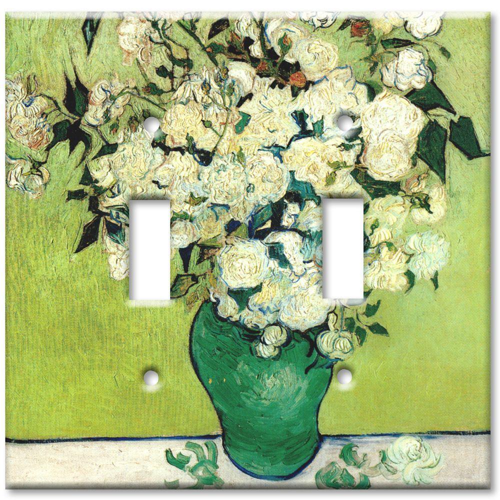 Art Plates Van Gogh Vase of Roses Oversize 2 Wall Plate