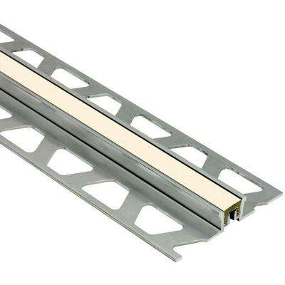 Dilex-KSN Aluminum with Sand Pebble Insert 7/16 in. x 8 ft. 2-1/2 in. Metal Movement Joint Tile Edging Trim